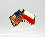 US/Poland Friendship Flag Lapel Pin